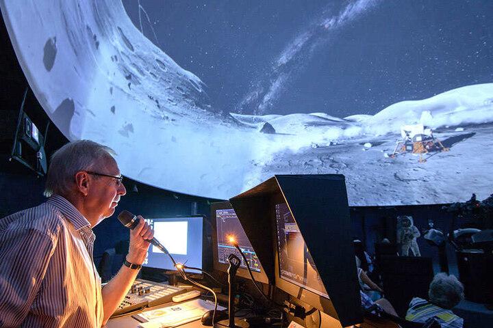 Im Planetarium Lichtenstein konnten Besucher am Sonnabend die Mondlandungen fast hautnah erleben