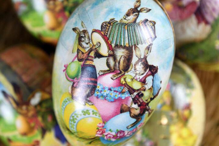 Die verschiedensten Eier und Hasen gibt's in Bad Frankenhausen zu sehen.