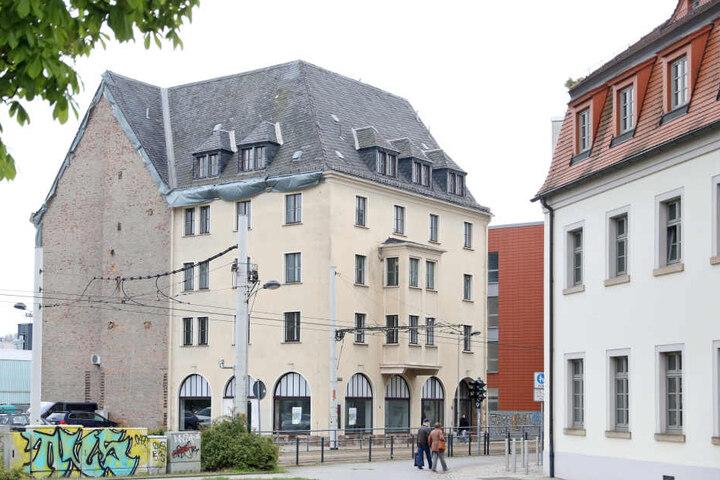 Das ehemalige Hygiene-Institut in Zwickau muss einem Neubau der Westsächsischen Hochschule weiche.