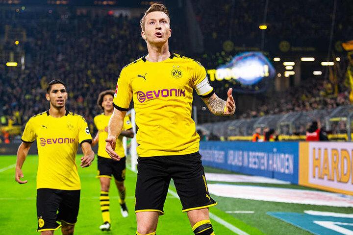 BVB-Kapitän Marco Reus erzielte das goldene Tor für Dortmund.