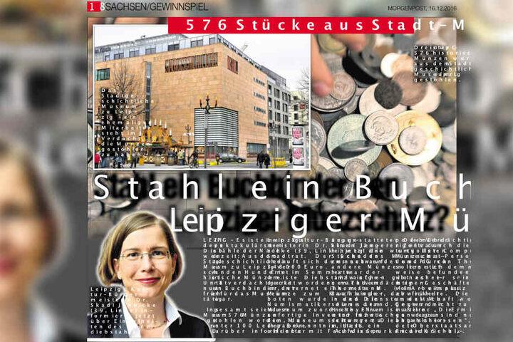 So berichtete TAG24 2016 über den Münzen-Diebstahl im Stadtgeschichtlichen Museum zu Leipzig.