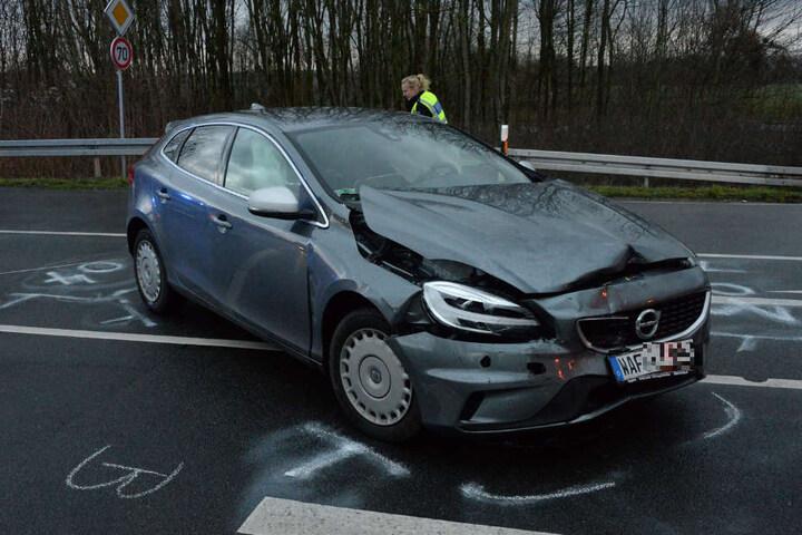 Die 54-jährige Autofahrerin wurde leicht verletzt.