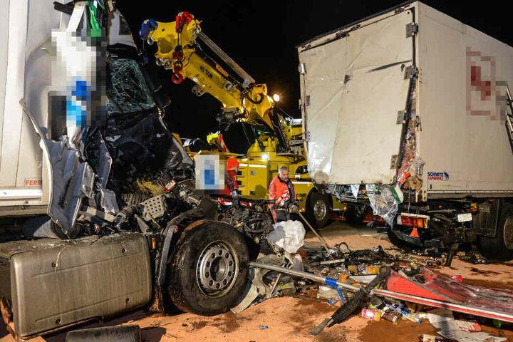 Die Autobahn war in Fahrtrichtung Leipzig für mehrere Stunden gesperrt.