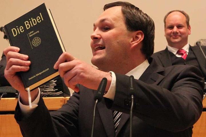 Im März 2015 zitierte Linken-Chef André Schollbach (40) im Stadtrat aus der Bibel, um gegen die Sonntagsöffnungszeiten zu kämpfen.