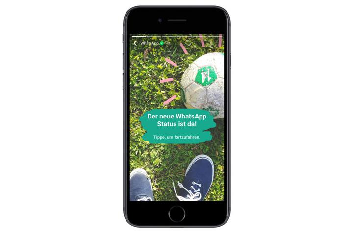 """Die Nutzer können ihre """"Status-Updates"""" mit Fotos und Videos zu dem, was sie gerade machen, für ihre Kontakte veröffentlichen."""