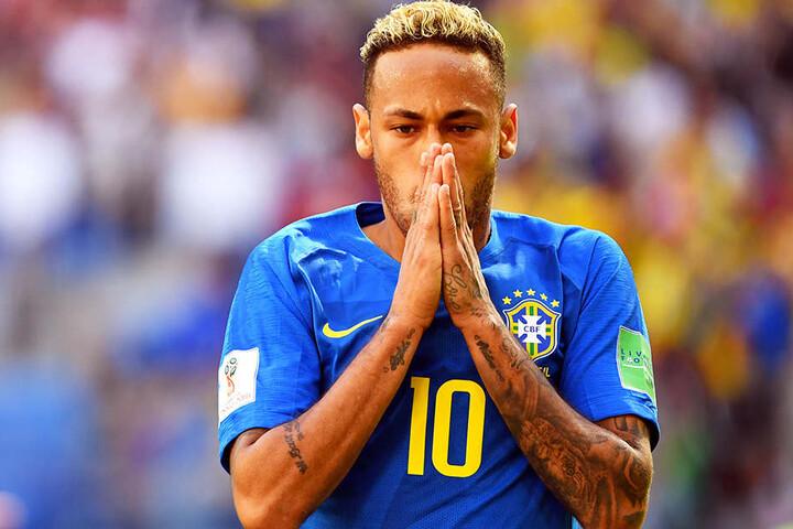 Ein Mann der großen Gesten: Neymar.