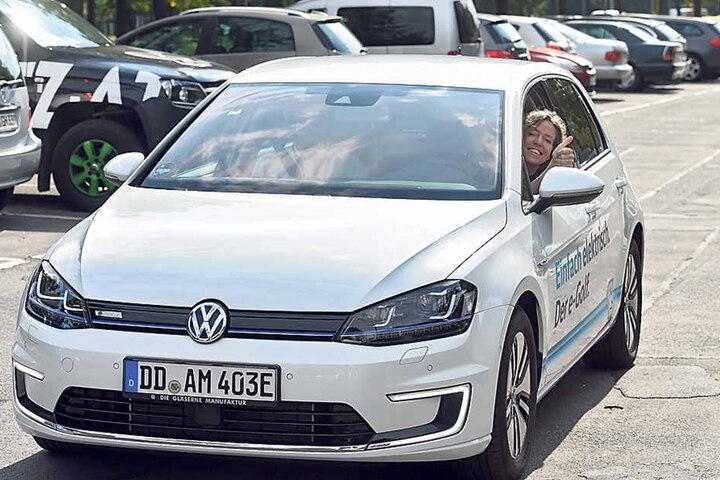In Sekundenschnelle ziehen die E-Autos auf 100 Stundenkilometer.