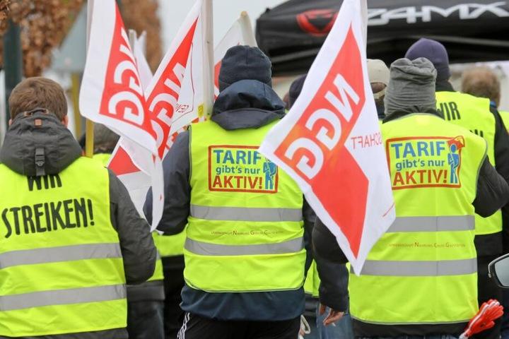 Die Gewerkschaft NGG demonstriert am Donnerstag in Bielefeld. (Symbolbild)