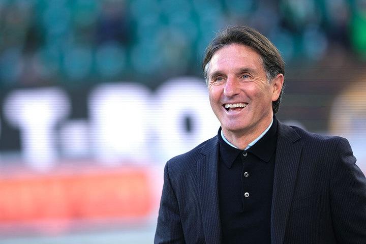 Mittlerweile hat Bruno Labbadia als Wolfsburger Trainer gut Lachen.