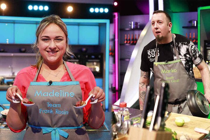 Marko (36) macht klare Ansagen in seinem Team, schließlich ist er gelernter Koch. Madeline (26) kocht im Team von Coach Frank Rossin, stolz zeigt sie ihre Löffel-Gerichte.
