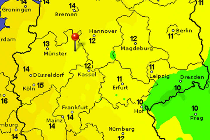 Die Temperaturen steigen in OWL wieder auf höchstens zwölf Grad. Ab Münster westwärts wird es wärmer.