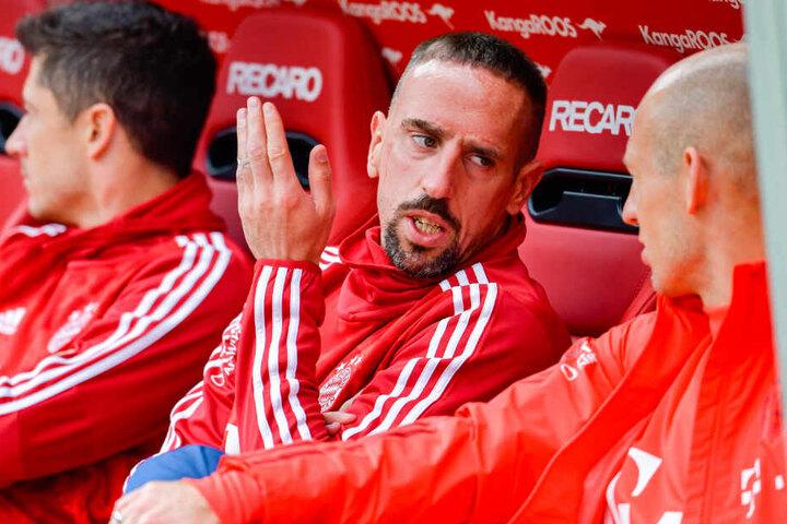 Der Franzose Franck Ribéry (M.) wurde beim FC Bayern München zu einer Legende des Vereins.