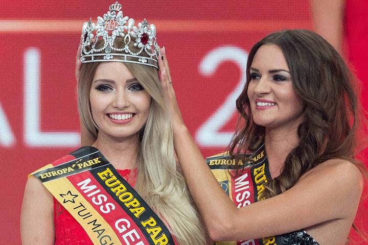 Soraya Kohlmann bekam obendrein die Krone als Miss Germany aufgesetzt.