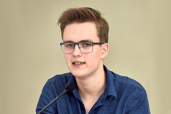 Leonard Kühlewind (18) sitzt im Vorstand des LandesSchülerRats Sachsen.
