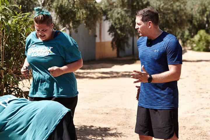 Bis zuletzt kämpfte Linda aus Dresden unter spanischer Sonne gegen ihre Pfunde an. Doch alle Mühe auch ihres Trainers Ramin Abtin war vergeblich.