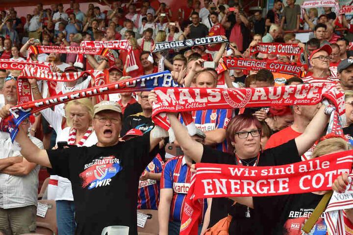 Niemals Aufgeben: Energies Fans sorgen sich um ihren Verein.