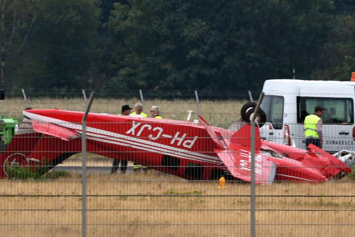 Beim Landeanflug verpasste der Pilot die Landebahn.