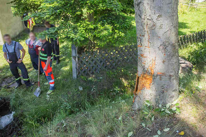 Der Seat-Fahrer krachte gegen einen Baum und verstarb noch an der Unfallstelle.