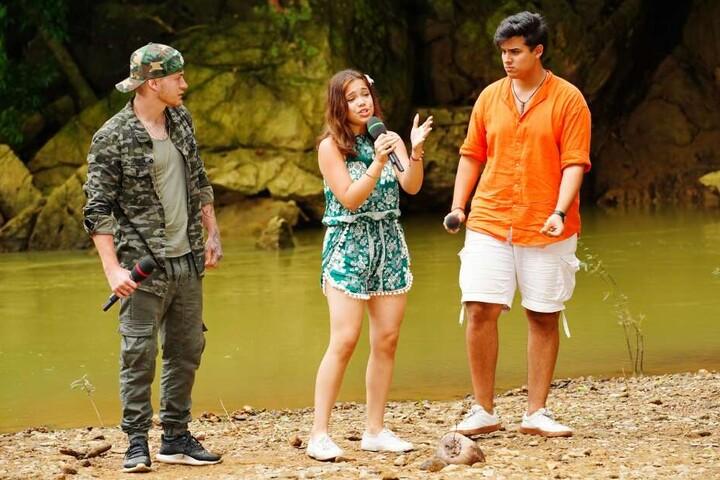 V.l.: Sven Schlegler, Shanice Porkar und Joaquin Parraguez bei ihrem Auftritt in Thailand.