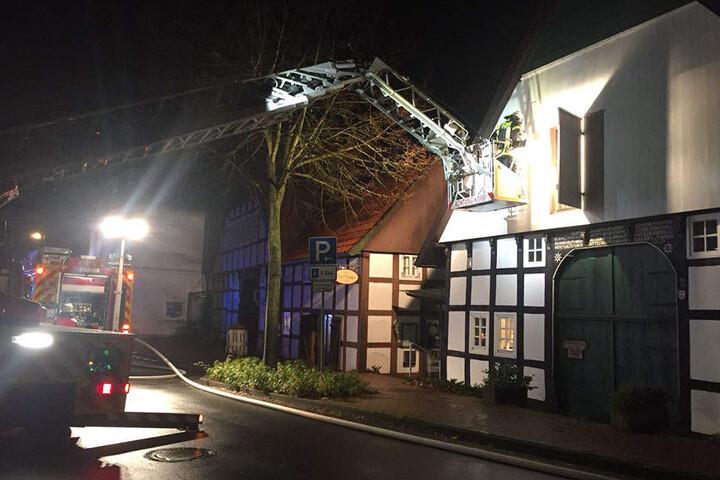 Die Küche im oberen Stockwerk war in Brand geraten.