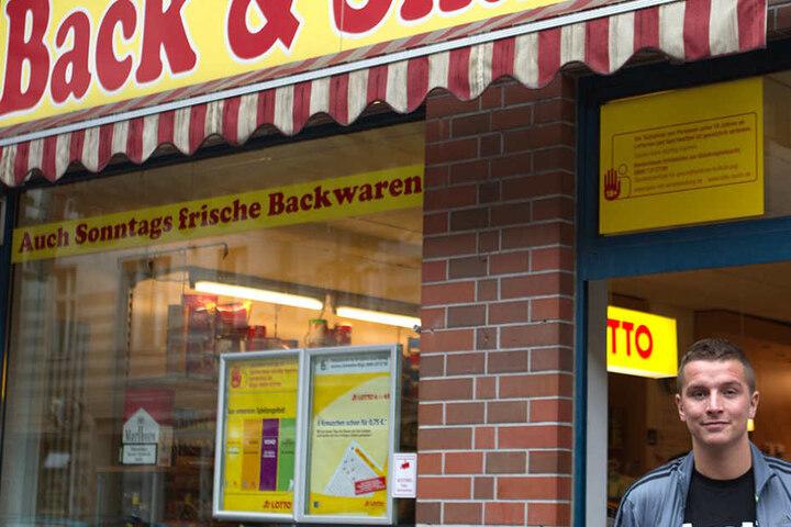 """Dieser """"Back & Snack""""-Shop gehörte dem Influencer, als er sich bei der Quiz-Show bewarb. Nachdem er bekannt wurde, gab er den Laden auf."""