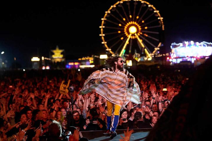 Jared Leto auf der Bühne am Freitagabend.