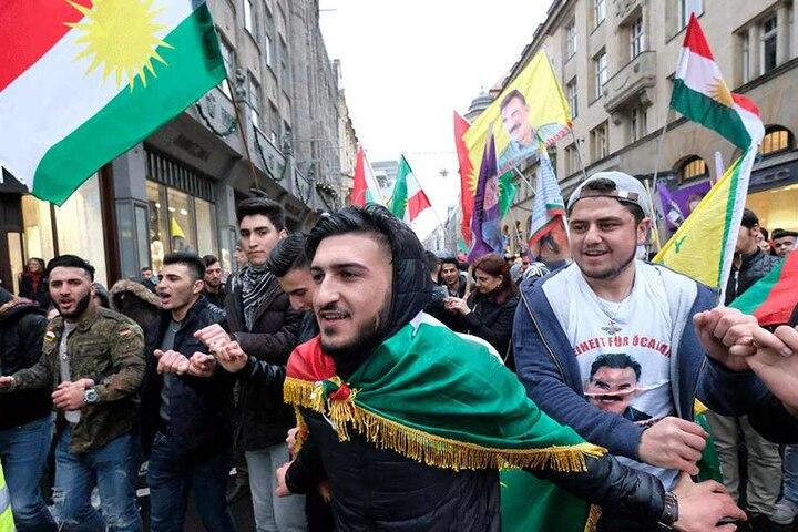 Die Demo richtete sich gegen die Politik Erdogans in der Türkei.