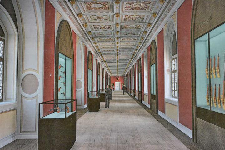 ... aber in zwei Jahren soll die Ausstellungshalle so aussehen.