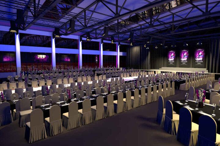 450 Gäste sollen hier in der Weihnachtszeit jeden Abend Platz finden. Zur Show wird ein Vier-Gänge-Menü präsentiert.