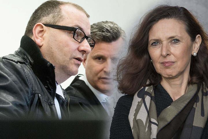 Nahlah Saimeh (re.) soll nun auch ein Gutachten über den Angeklagten Wilfried W. (li.) erstellen.