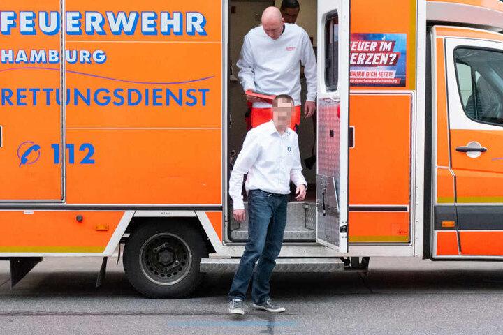 Der Mitarbeiter konnte nach kurzer Zeit den Rettungswagen verlassen.