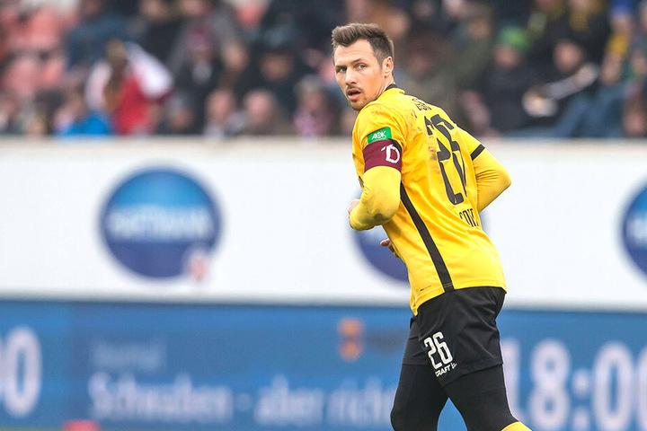 Abwehrchef Sören Gonther will mit seinen Dynamos den Schalter auf Erfolg umlegen.