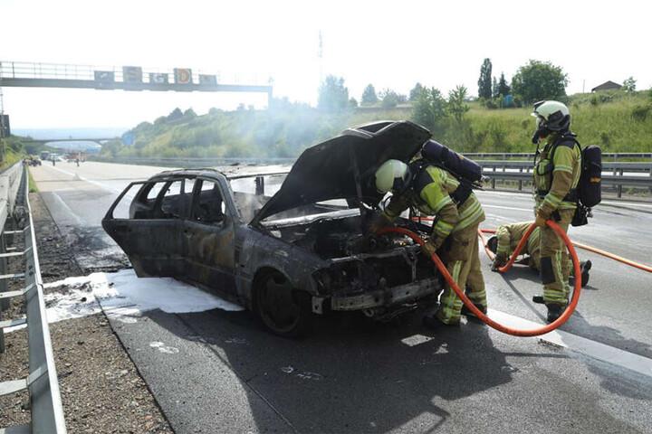 Totalschaden! Der Pkw brannte vollständig aus.