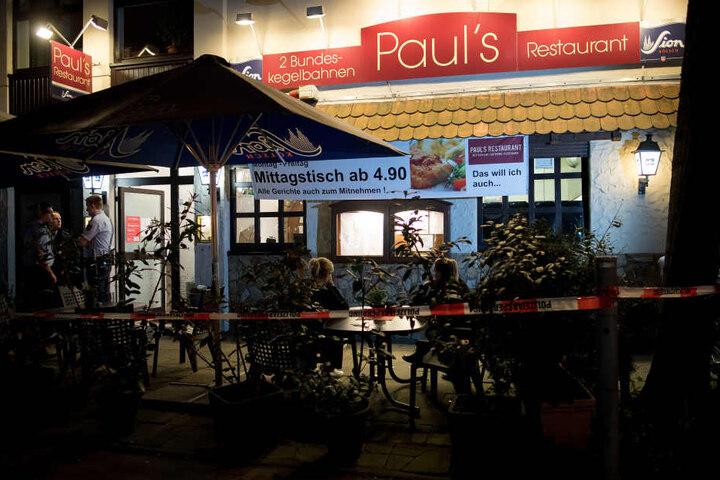 In diesem Restaurant wurden die beiden Leichen am Freitagabend gefunden.