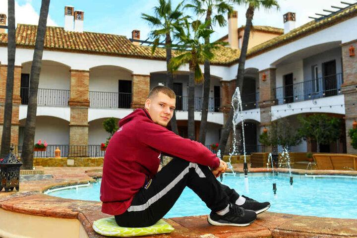 Die Ruhe in Person: Kevin Ehlers meisterte im Spanien-Camp seinen ersten Medienauftritt mit Bravour.