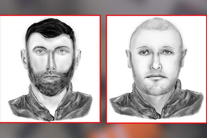Diese beiden Männer sollen an den Verbrechen beteiligt gewesen sein.