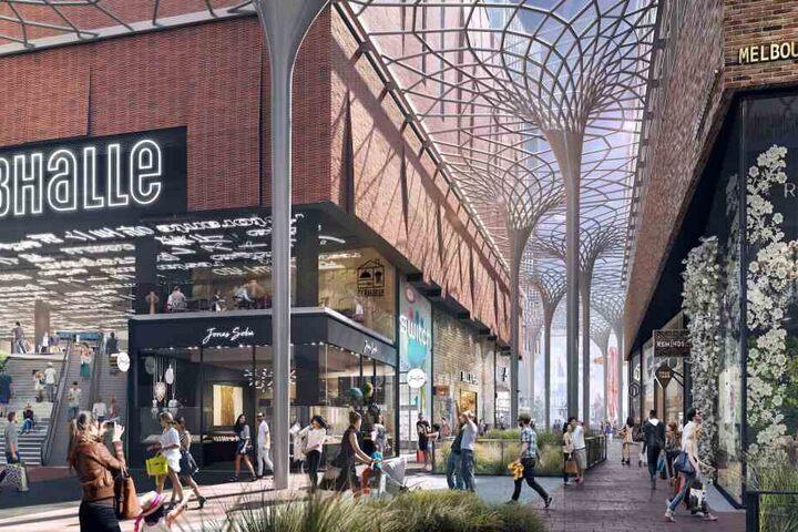 aa4a2bbc17b789 Die Visualisierung zeigt Teile der Shopping-Möglichkeiten des südlichen  Überseequartiers in Hamburg.