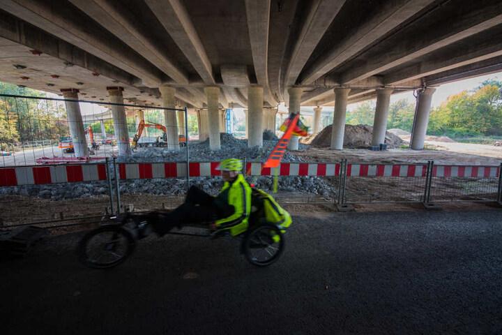Das sogenannte Herzstück Ost der alten Schiersteiner Brücke wird seit Anfang August abgerissen.