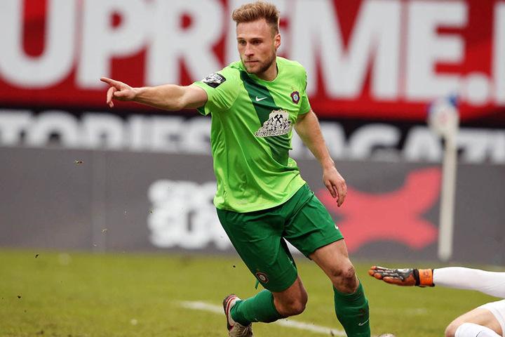 Max Wegner traf zum letzten Mal beim 2:0 in Rostock für Aue. Das war am 20. Februar.
