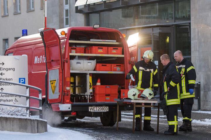 Die Feuerwehr ist am Gericht im Großeinsatz, das Gebäude ist aber nicht gesperrt worden.
