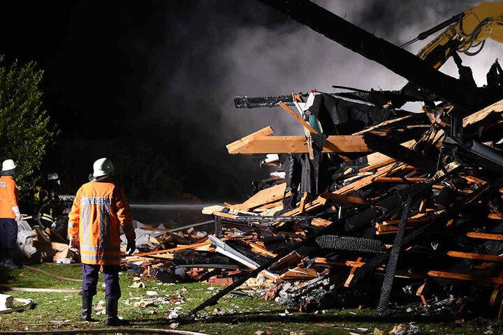 Das Haus wurde bei der Explosion völlig zerstört.