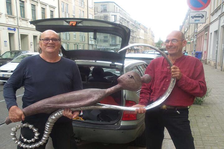 Der Finder: Gerald Warnecke mit Thomas Reichstein.