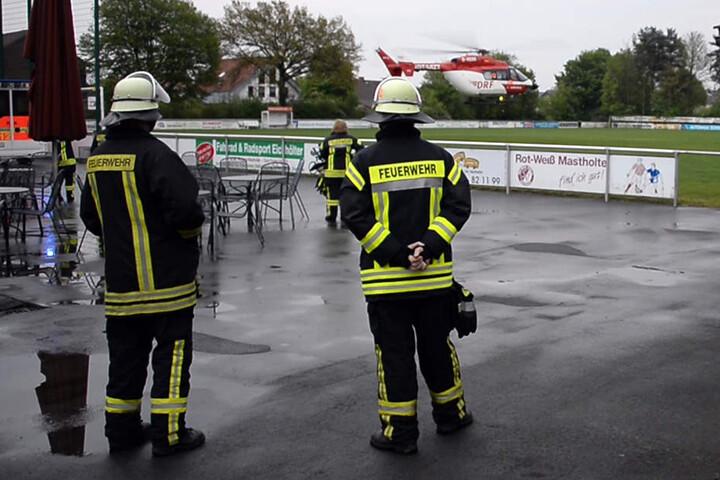 Gegen 21 Uhr brachte ein Rettungshubschrauber die Verletzte nach Dortmund.
