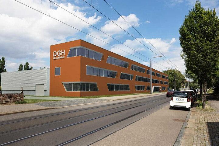 Schon im Dezember nächsten Jahres sollen Mieter in den Neubau an der Freiberger Straße einziehen.