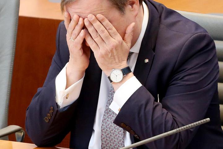 Armin Laschet (CDU) bei einer Sitzung im Landtag in Düsseldorf.