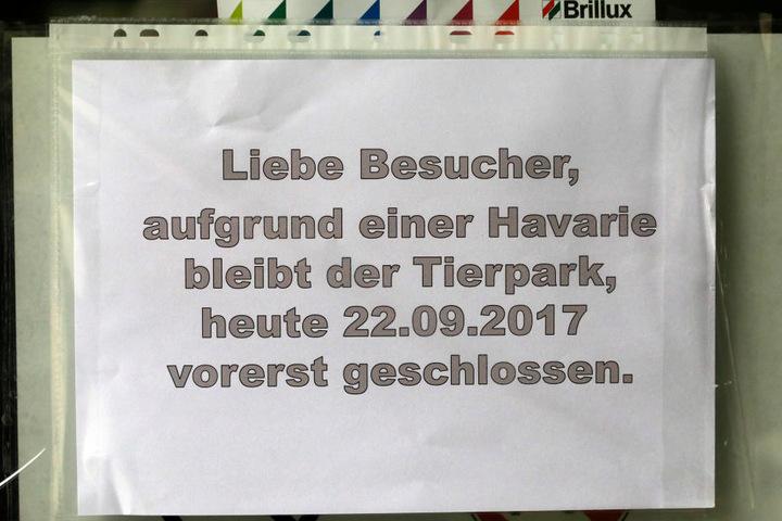 Der Tierpark bleibt am Freitag vorerst geschlossen.