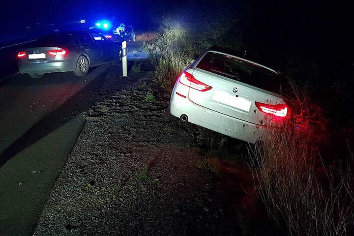 Nach einer wilden Verfolgungsjagd stellte die Polizei den Autodieb.