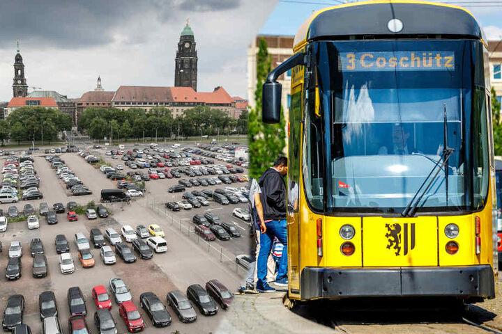 Wer in Dresden parkt, soll zukünftig einen DVB-Rabatt bekommen.