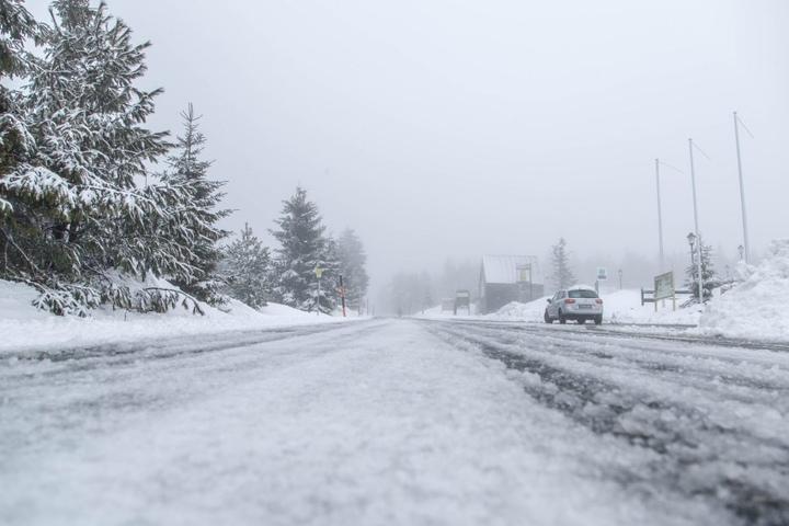Der Winter ist zurück in Oberwiesenthal.