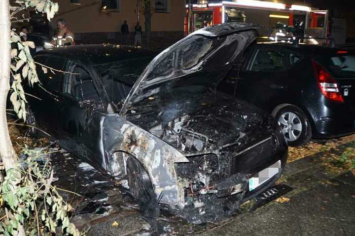 In der Nacht zum Sonntag stand der Audi in Flammen.
